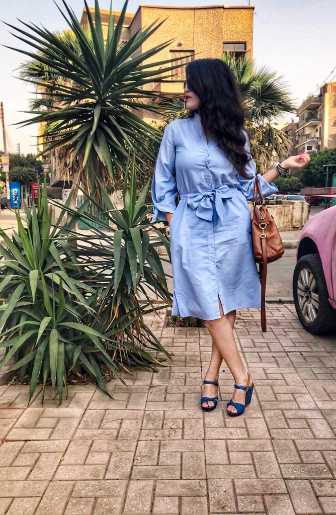 Zara belted shirtdress 