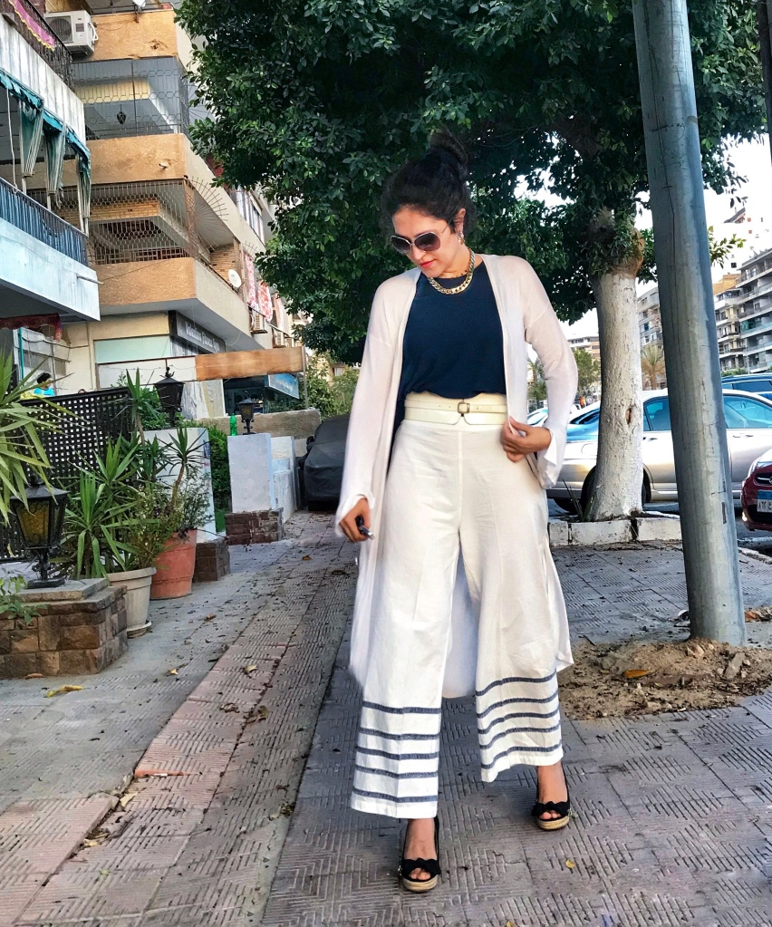 Outerknown palazzo pants, and belt