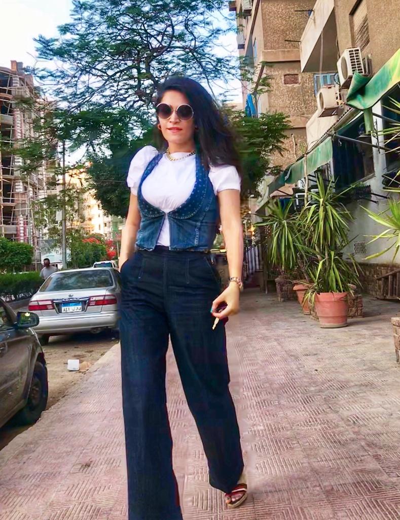 Diesel high waisted wide leg denim and vest, Zara puffy shoulder top