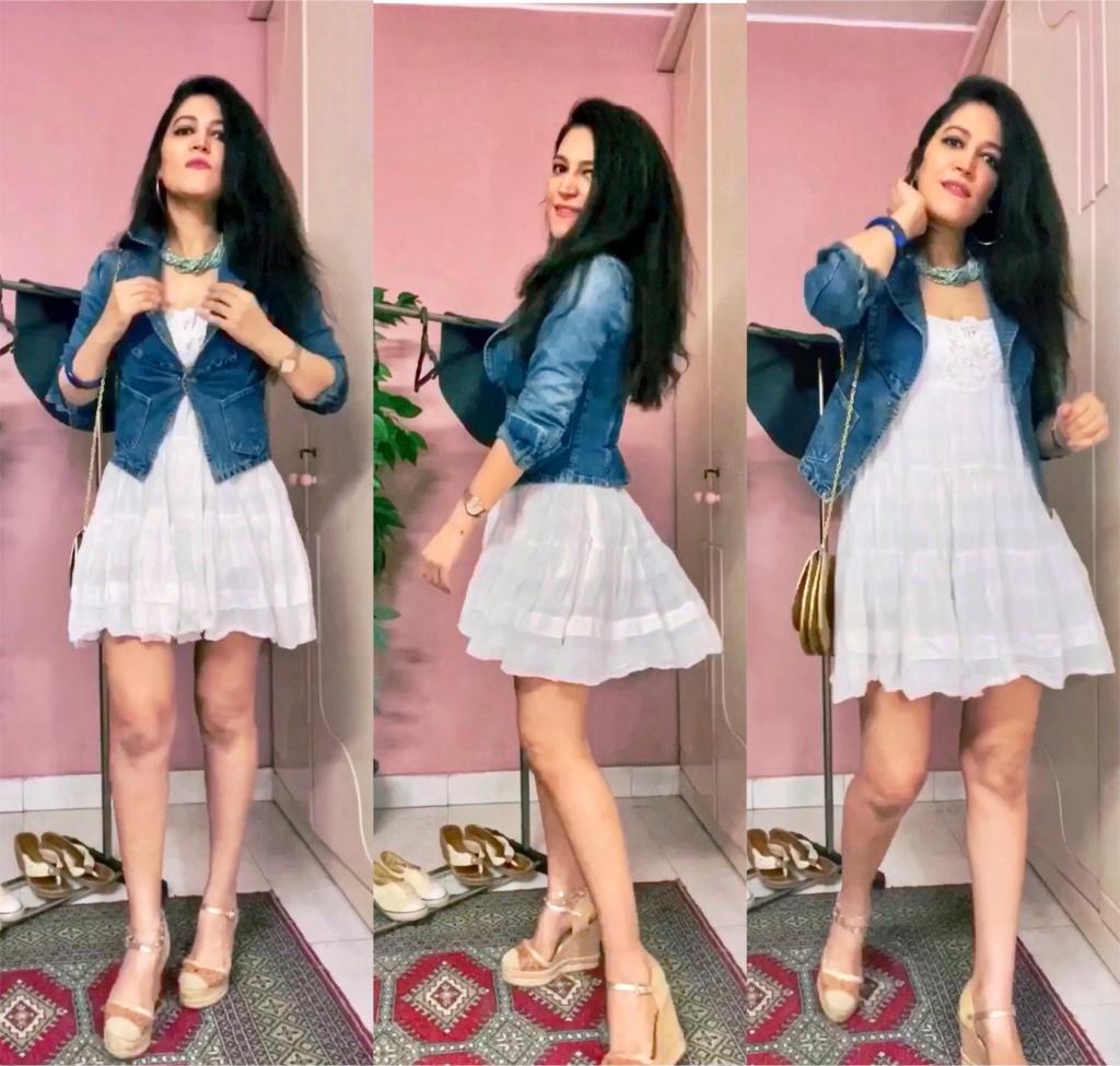 Sfera dress, Miss Sixty fitted denim blazer jacket