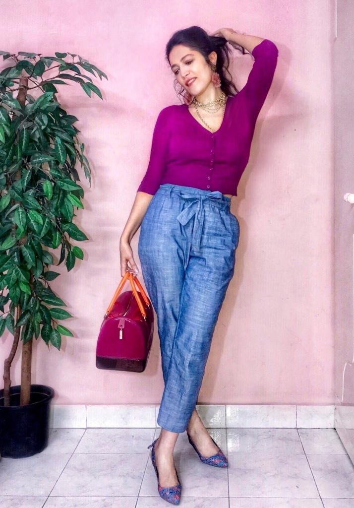 Zara pants and Mango top